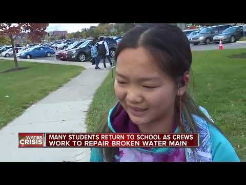 Schools deal with the aftermath of the Oakland County water main break