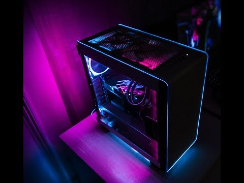 Miami Nights 1984 Case EL Mod and Lighting Theme (NZXT HUE+ and Kraken X62)