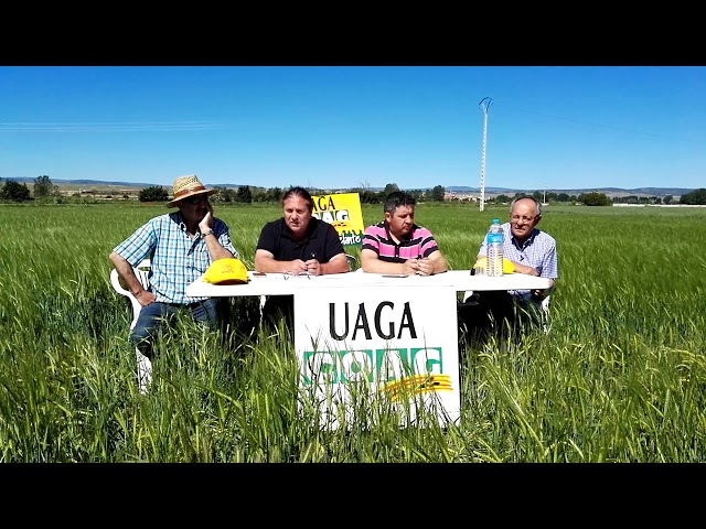Rueda prensa UAGA COAG en Cella 15/06/2018