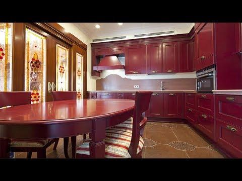 КУХНИ ВИШНЁВОГО ЦВЕТА 🍒Современные Идеи Дизайна | Вишнёвый цвет на кухне