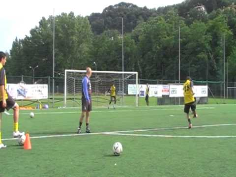 Soccer training in Italy with Italian Soccer School  Shoot at the goal