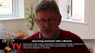 Upcoming e-Memoir webinars May 2018