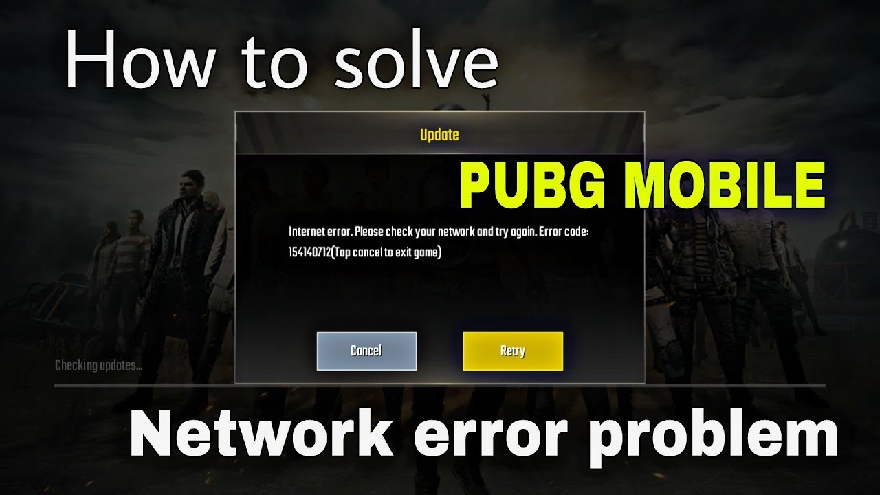 PUBG MOBILE network error problem solve | How to solve network error  problem in PUBG mobile 2018