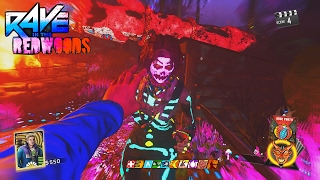 RAVE IN THE REDWOODS - FOUR YOUTUBER EASTER EGG PLAYTHROUGH GAMEPLAY! (INFINITE WARFARE ZOMBIES)