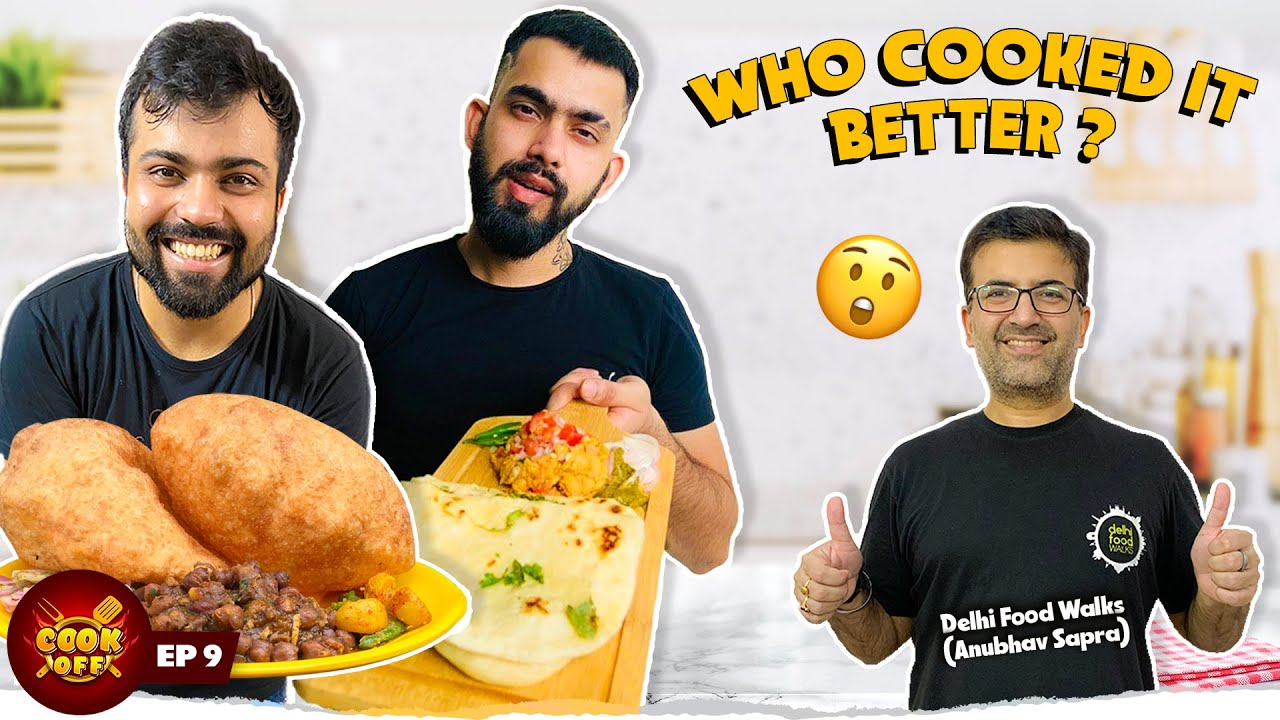 Chole Bhature vs Chole Kulche | Homemade Cooking Challenge ft. @Delhi Food Walks  [Cook Off#9]