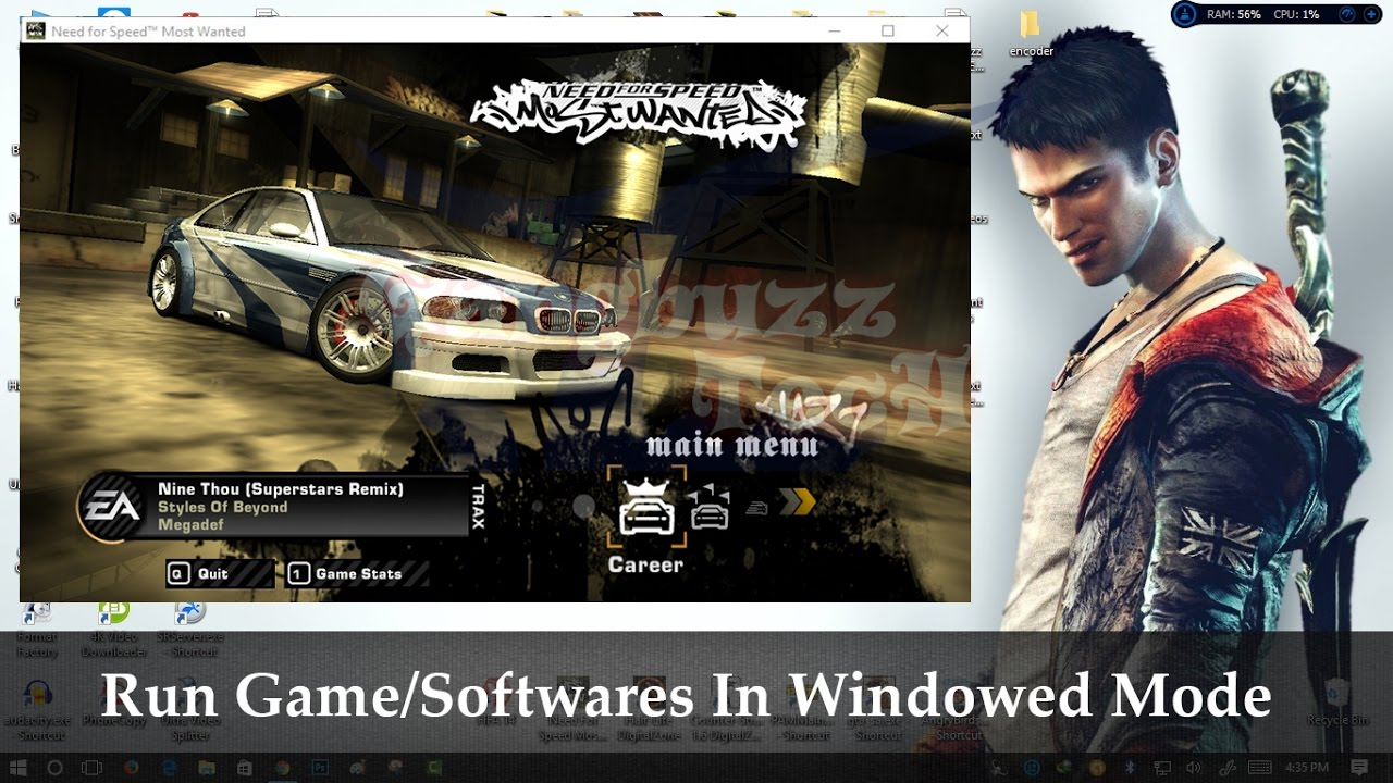force a game to run in windowed mode