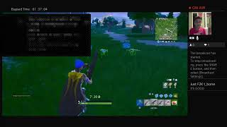 Fortnite with new monitor|loyals get modded|god builder| PS4 gameplay