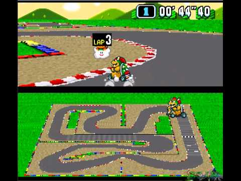super mario kart snes mario circuit 4 tt youtube. Black Bedroom Furniture Sets. Home Design Ideas