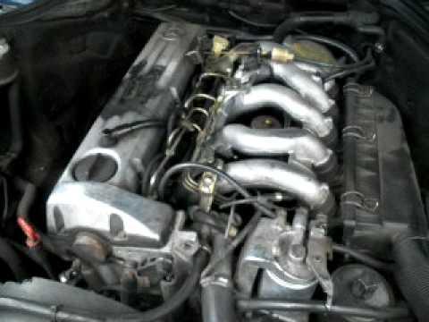 mercedes w124 250 2.5 diesel cold start engine - youtube