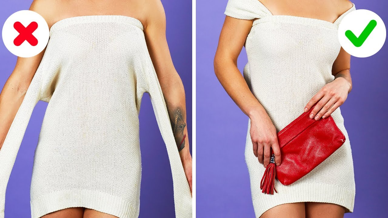 40 Brilliant Clothing Hacks That Won T Cost You A Penny Youtube