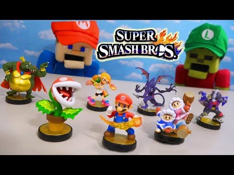 SUPER SMASH BROS Ultimate 2019 Amiibo Toy Figures Huge Unboxing Review! thumbnail