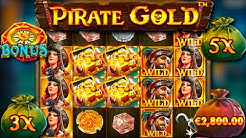 x??? win / Pirate Gold free spins and respins compilation!