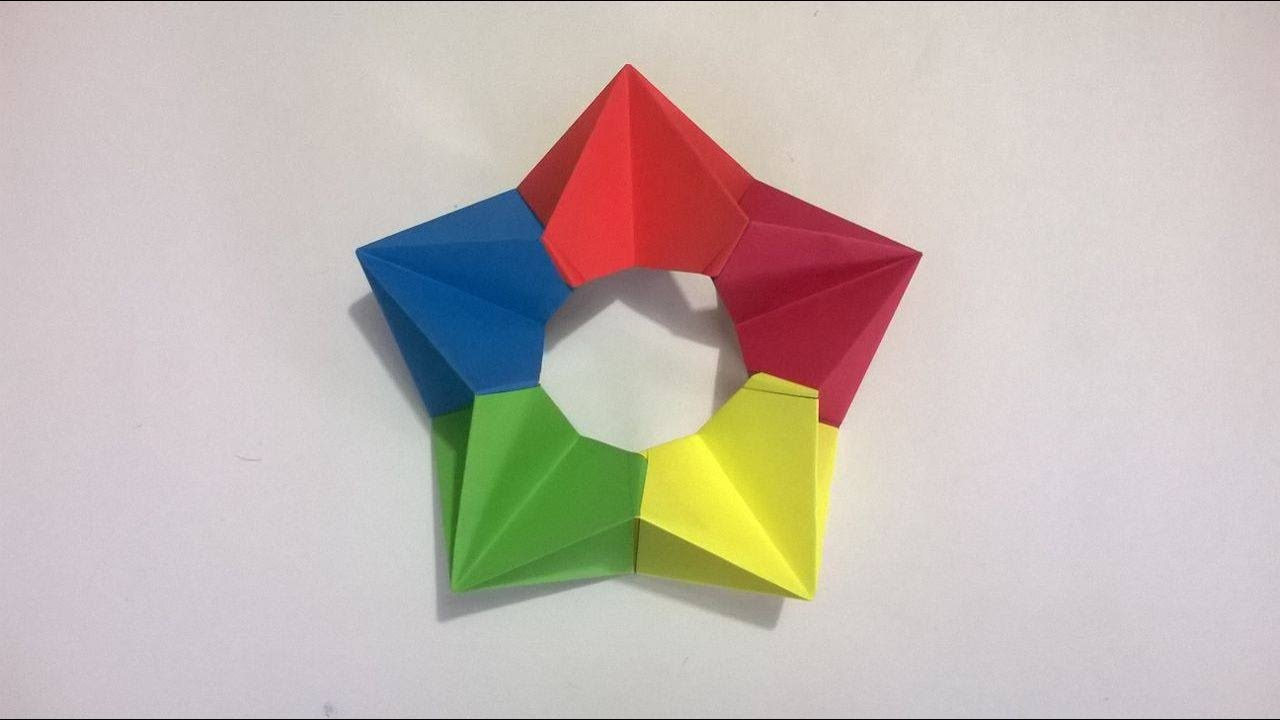 Origami estrella 3d de papel origami 3d paper star youtube - Origami de una estrella ...