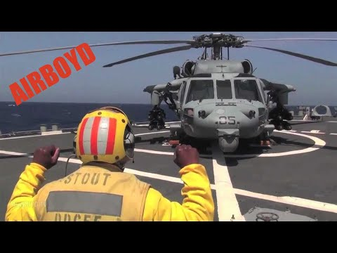 MH-60 Seahawk Landing USS Stout (DDG-55)