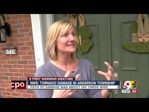 NWS: tornado damage in Anderson Township
