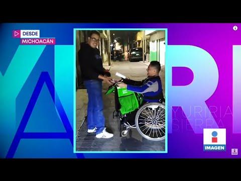 ¡Su Discapacidad No Lo Limita! Daniel Márquez Pide Trabajar Como Repartidor | Yuriria Sierra