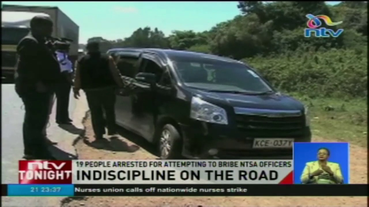 19 people arrested for attempting to bribe NTSA officers