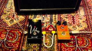Analogman Sun Face BC108 and Lovepedal Vibe Demo