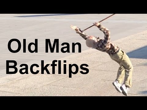 Old Man #BackflipChallenge