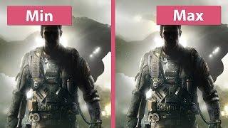 Call of Duty Infinite Warfare – PC Min vs. Max plus Details Graphics Comparison 1440p