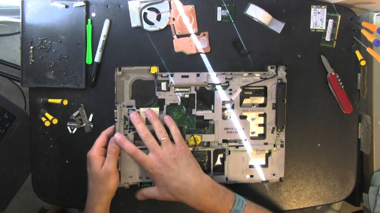 Lenovo T61 Take Apart Video  Disassemble  How To Open Disassembly