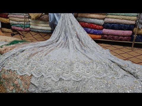 Fabric Designs #01 - Net Fabrics Dresses 3d Embroidery | Pearls Works | Trends For Indian Girls 2018