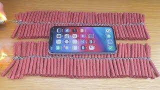 EXPERIMENT: iPhone XS vs 1000 Firecrackers