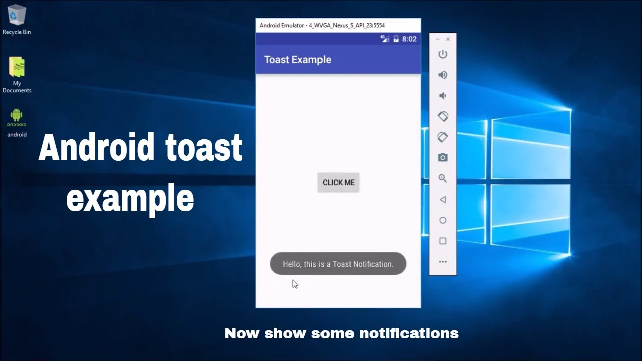 Toast & Custom Toast With Example In Android Studio