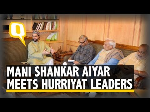 The Quint: Unauthorised by Cong, Mani Shankar Aiyar Meets Hurriyat Leaders