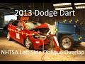 2013-2016 Dodge Dart NHTSA Oblique Overlap Crash Test (Left Side)