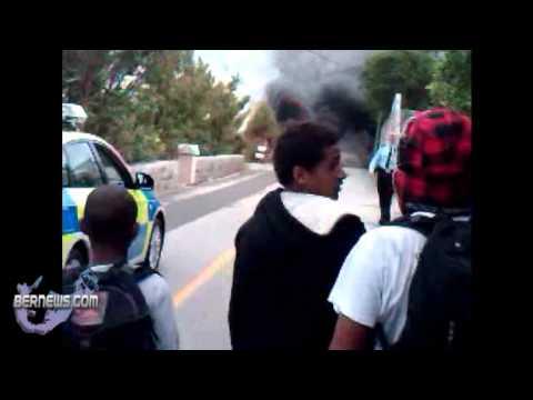 Car Fire Scotts Hill Road Bermuda Jan 29th 2011