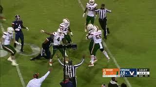 Virginia Offensive Line Vs. Miami 2018