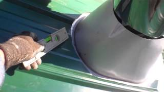 Obadiah's: Redwood Hot Tub Installation - Installing Metal Roof Flashing