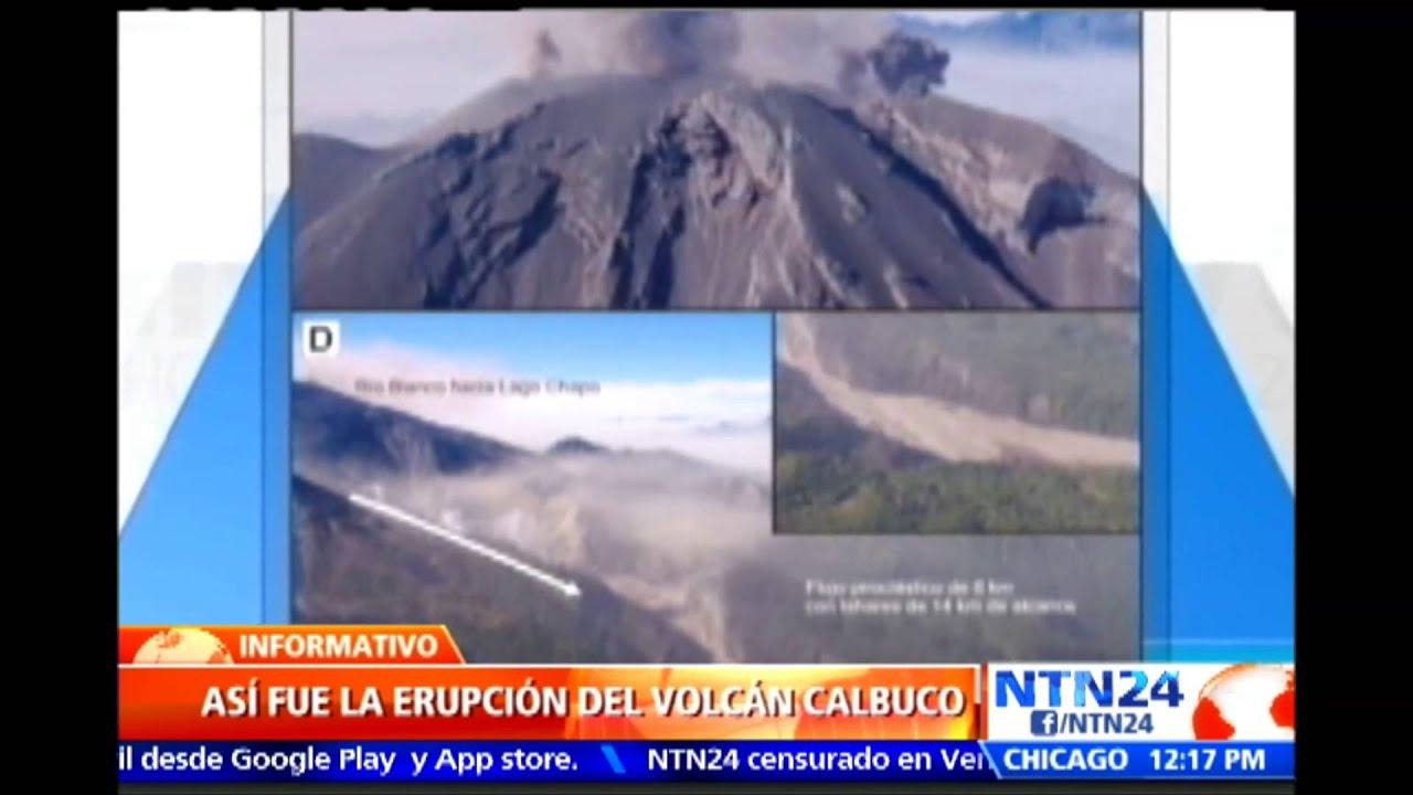 Imágenes satelitales registraron el momento exacto de la erupción del  volcán Calbuco, en Chile - YouTube