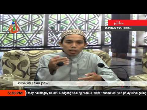 Kissa Sin Rasul Saw 8 Sheikh Jomar Naing Tausug