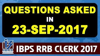 Video Exam Review With Cut Off | IBPS RRB CLERK 2017 | 23 September-3rd Shift download MP3, 3GP, MP4, WEBM, AVI, FLV September 2017