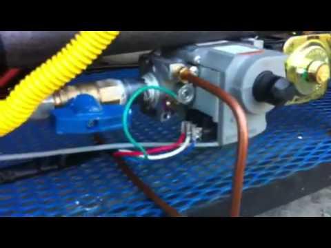 hook up propane tank to furnace