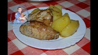 рецепт приготовления куриных крылышек с картошкой. Любимое блюдо наших детей
