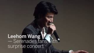 Video LEEHOM WANG Serenades fans with surprise concert | TIFF 2016 download MP3, 3GP, MP4, WEBM, AVI, FLV April 2018
