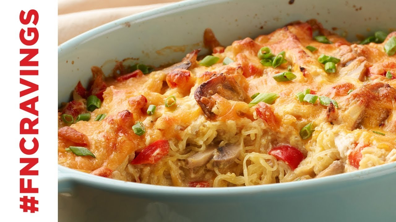 Chicken spaghetti squash food network youtube chicken spaghetti squash food network forumfinder Choice Image