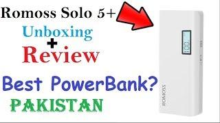 Romoss Solo 5 Plus 10000mAh Power Bank Unboxing Review Urdu Hindi