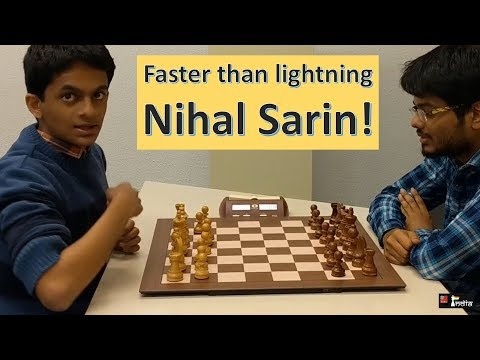 That's how fast the youngest 2600 player on the planet Nihal Sarin is!