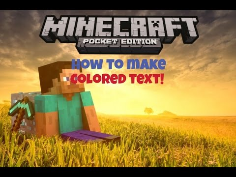 how to make colored writing on signs in minecraft pe