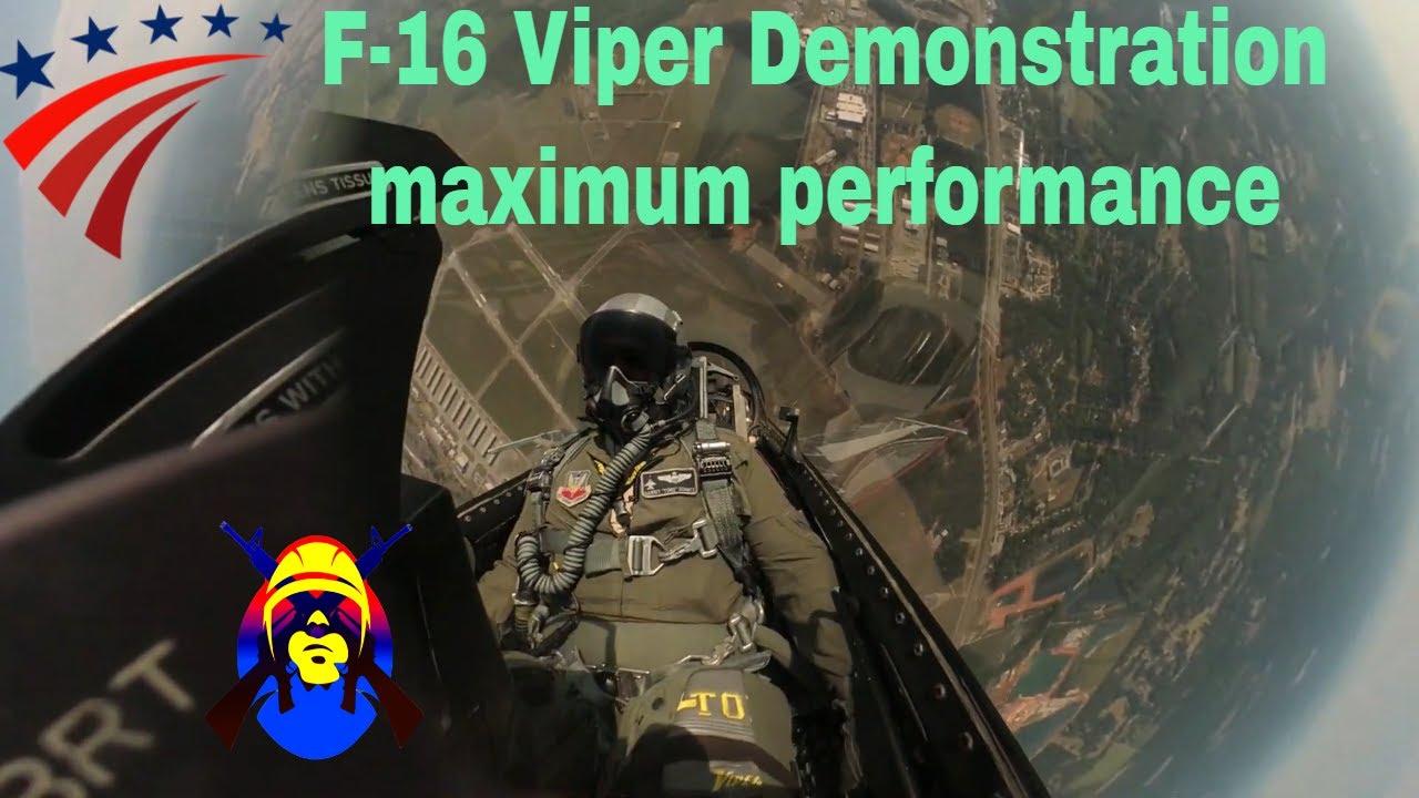 "U.S. Air Force Maj Garret ""Toro"" Schmitz • F-16 Fighting Falcon • Performs Maximum Performance Climb"