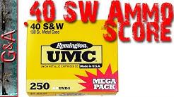 Walmart .40 Mega Ammo Score