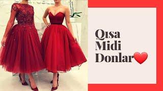 Qisa Ziyafet Geyimleri 2020 Midi Donlar 2020 Youtube