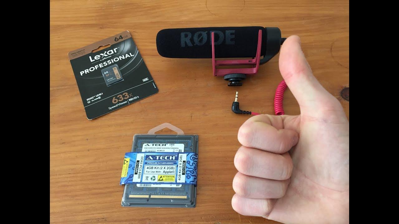 Unboxing Micro Røde Ram A Tech Sd Lexar