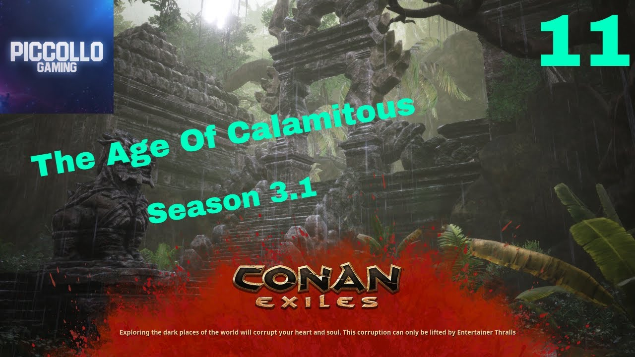 Conan Exiles Ep11 :Season 3 1,How to make obsidian tools and weapons