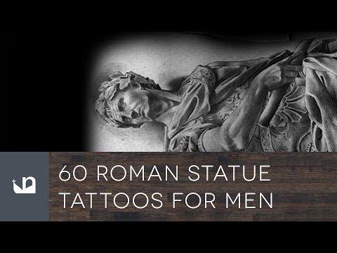 60 Roman Statue Tattoos For Men