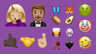 كل الرموز التعبيرية الجديدة في iOS 10.2 كانون الأول / ديسمبر 2016 التحديث
